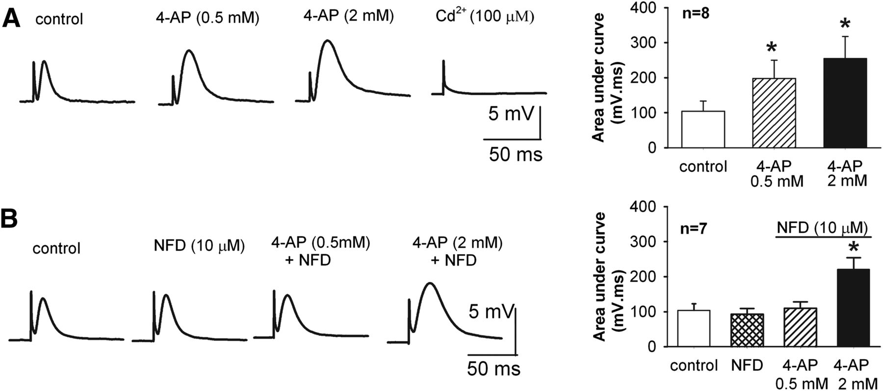 Potentiation of High Voltage–Activated Calcium Channels by 4